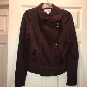 Anthro Marrakech burgundy Moto jacket